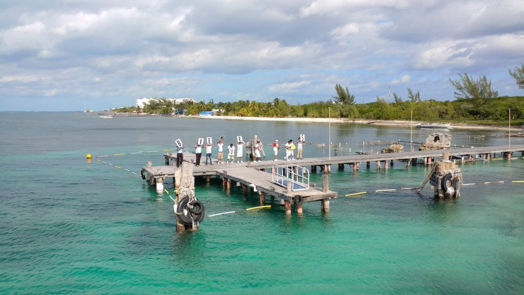 Beach club pier
