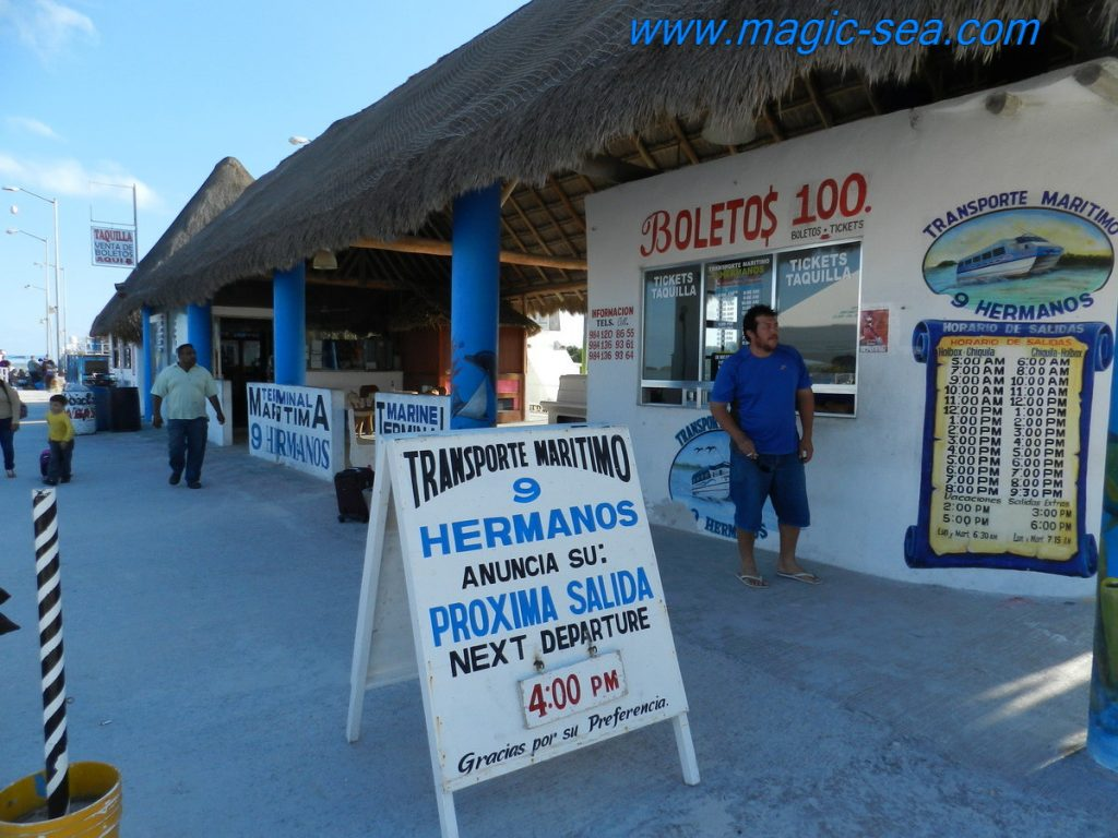 Holbox pier tickets office
